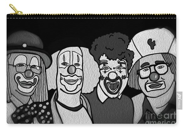 Clowns Bw Carry-all Pouch