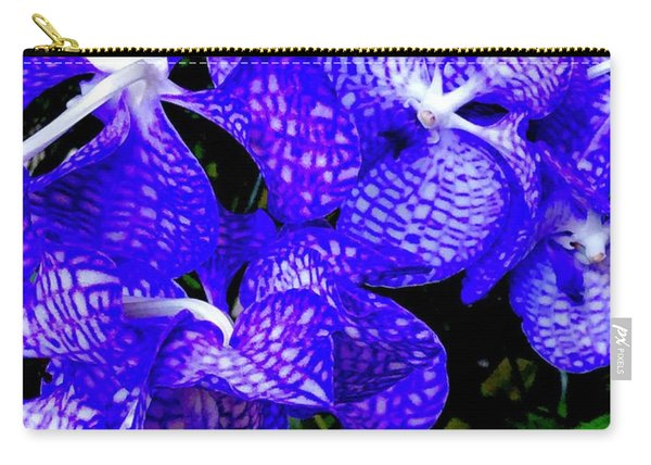 Cluster Of Electric Blue Vanda Orchids Carry-all Pouch