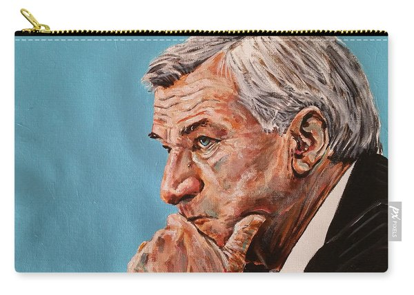 Carry-all Pouch featuring the painting Coach Dean Smith by Joel Tesch