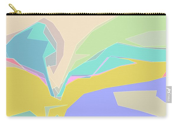 Carry-all Pouch featuring the digital art Coast Of Azure by Gina Harrison