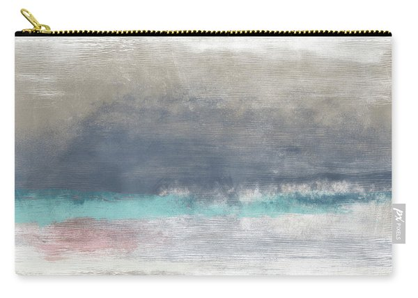 Coastal Escape-abstract Art By Linda Woods Carry-all Pouch