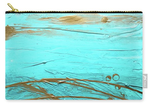 Coastal Escape II Textured Abstract Carry-all Pouch