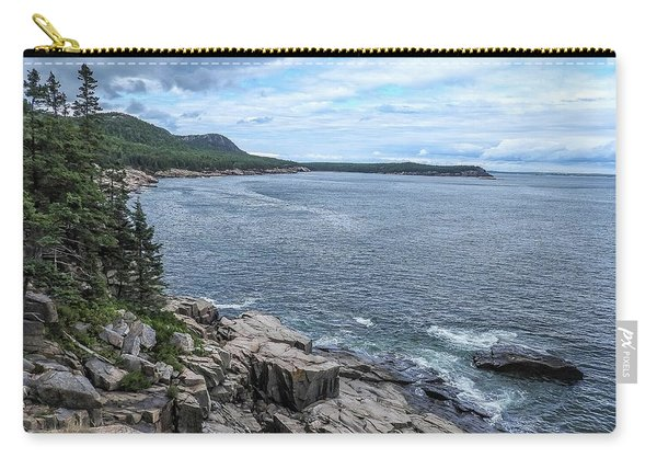 Coastal Landscape From Ocean Path Trail, Acadia National Park Carry-all Pouch
