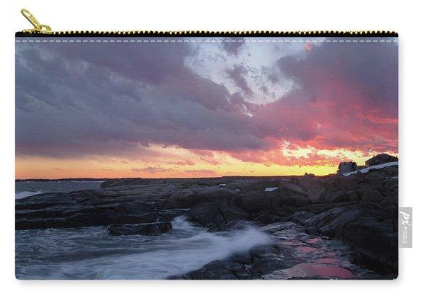 Coastal Sunset Cape Neddick - York Maine  -21056 Carry-all Pouch