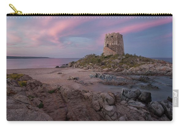 Coastal Tower At Sunset Carry-all Pouch