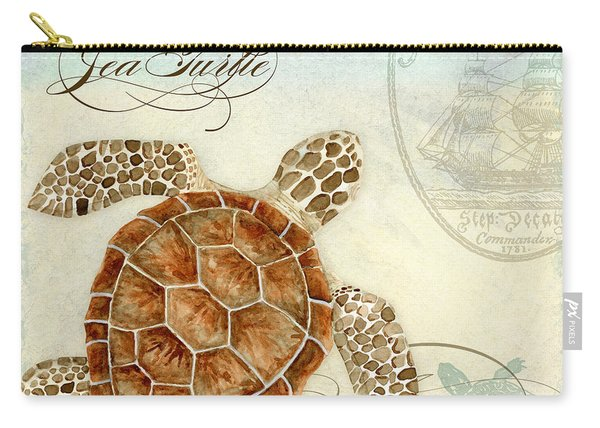 Coastal Waterways - Green Sea Turtle 2 Carry-all Pouch