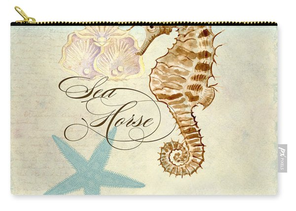 Coastal Waterways - Seahorse Rectangle 2 Carry-all Pouch
