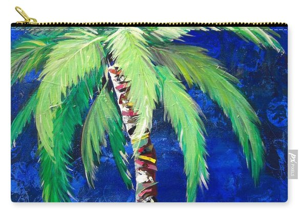 Cobalt Blue Palm II Carry-all Pouch