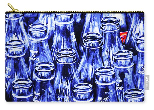 Coca-cola Coke Bottles - Return For Refund - Square - Painterly - Blue Carry-all Pouch