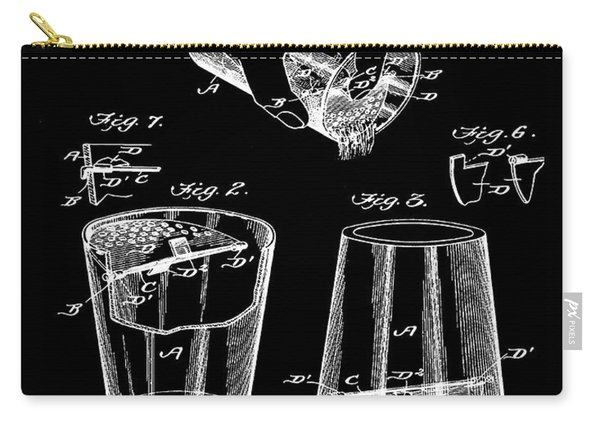 Cocktail Mixer Patent 1903 In Black Carry-all Pouch