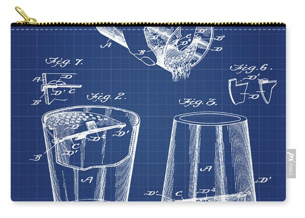 Cocktail Mixer Patent 1903 In Blueprint Carry-all Pouch