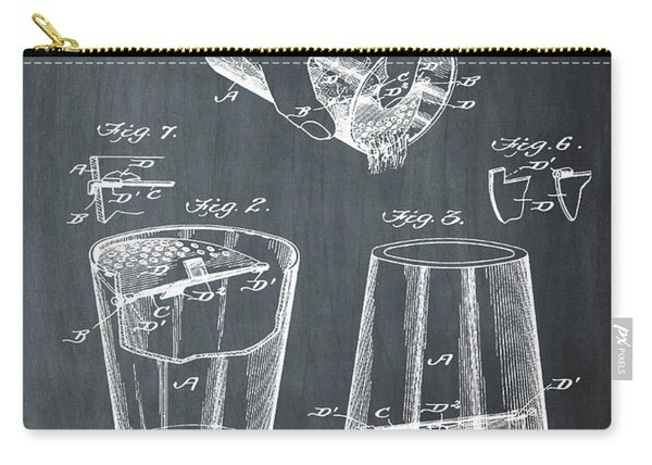 Cocktail Mixer Patent 1903 In Chalk Carry-all Pouch