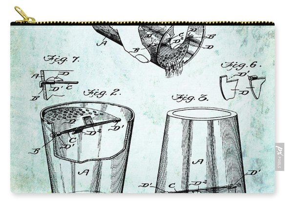 Cocktail Mixer Patent 1903 In Dirty Paper Carry-all Pouch