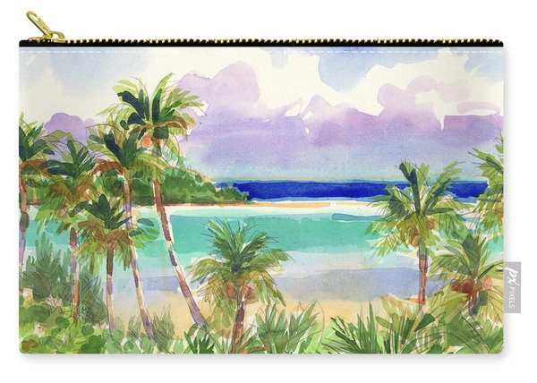 Coconut Palms And Lagoon, Aitutaki Carry-all Pouch