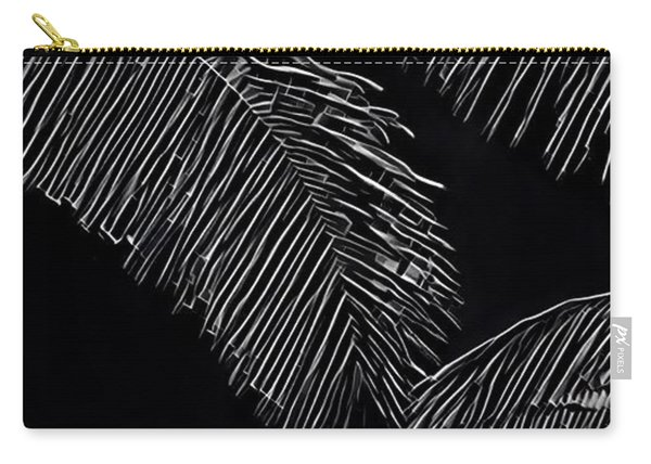 Coconut Palms In Black And White Carry-all Pouch