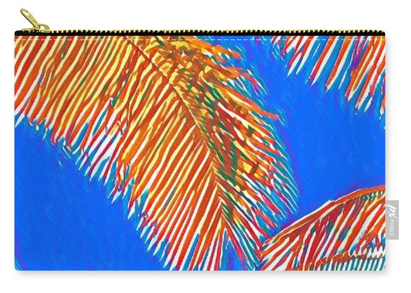 Coconut Palms In Red And Blue Carry-all Pouch