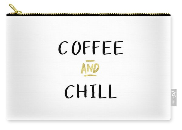 Coffee And Chill-art By Linda Woods Carry-all Pouch