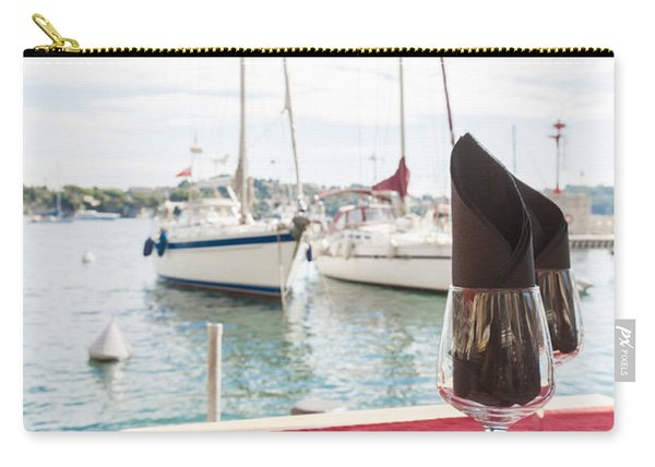 Coffee At Mediterranean Harbour Carry-all Pouch