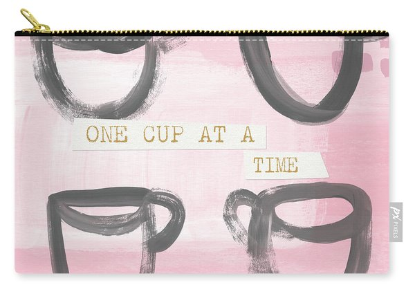 Coffee Cups Pink- Art By Linda Woods Carry-all Pouch