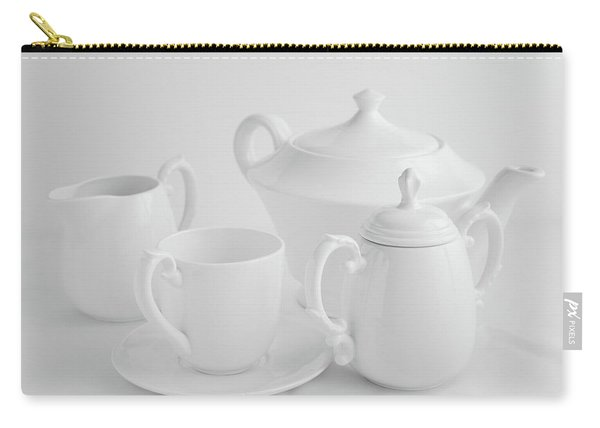 Coffee In White Carry-all Pouch