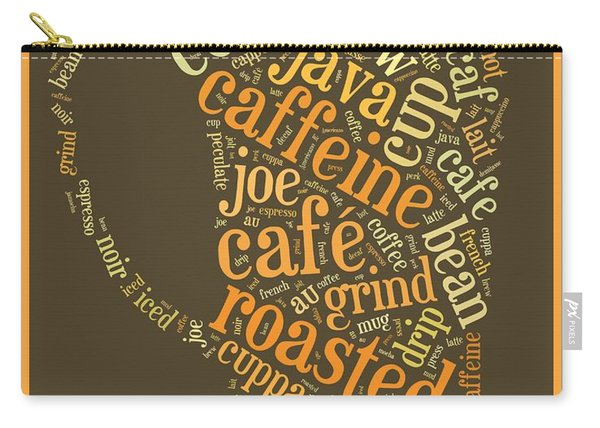 Coffee Lovers Word Cloud Carry-all Pouch