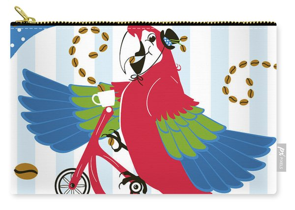 Coffee Parrot Carry-all Pouch