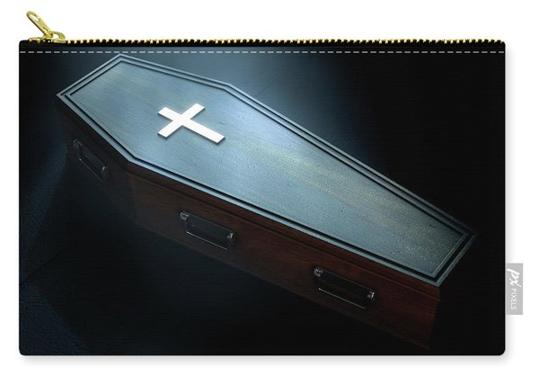 Coffin And Crucifix Carry-all Pouch