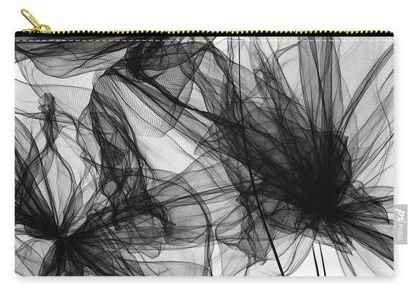 Coherence - Black And White Modern Art Carry-all Pouch