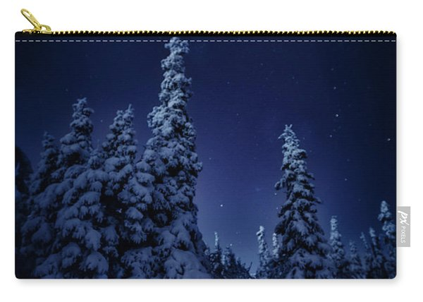 Cold Blue Night Carry-all Pouch