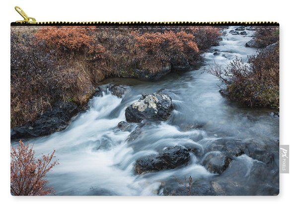 Carry-all Pouch featuring the photograph Cold Creek In Autumn by Tim Newton