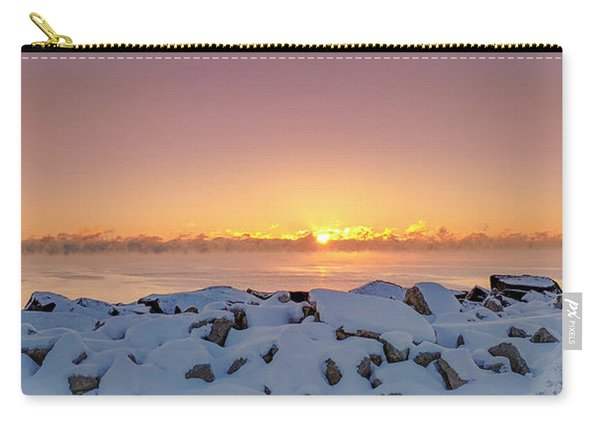 Cold Winter Sunrise Carry-all Pouch
