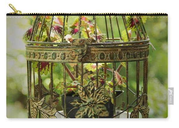 Coleus In Vintage Birdcage Carry-all Pouch
