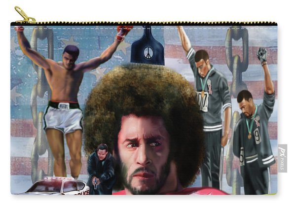 Colin Kaepernick Amongst The Brave Few 2a Carry-all Pouch