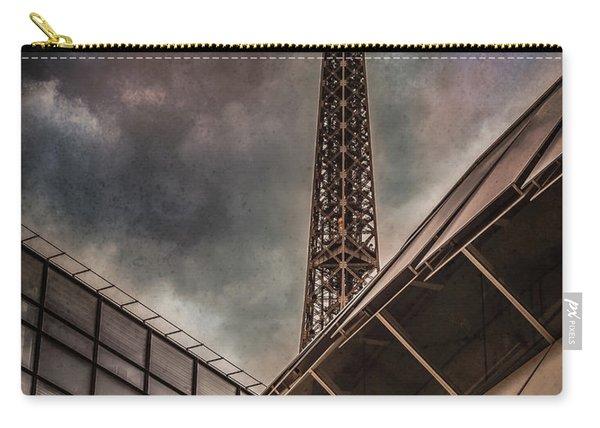 Paris, France - Colliding Grids Carry-all Pouch