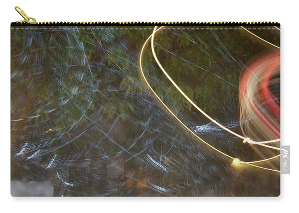 Carry-all Pouch featuring the pyrography Colliding Worlds  by Michael Lucarelli