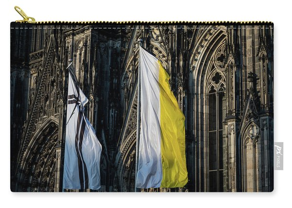 Cologne Cathedral Flags Carry-all Pouch