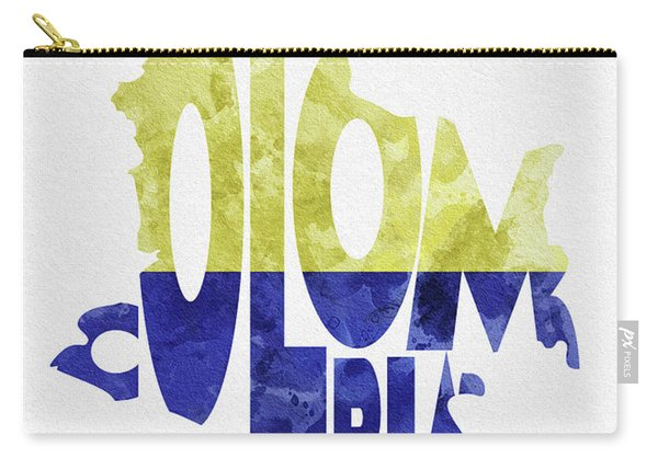 Colombia Typographic Map Flag Carry-all Pouch