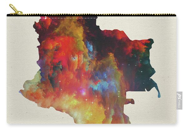 Colombia Watercolor Map Carry-all Pouch