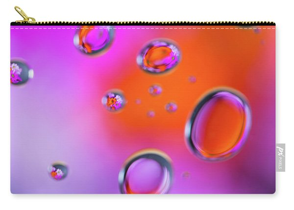 Carry-all Pouch featuring the photograph Color Drops by Brian Hale