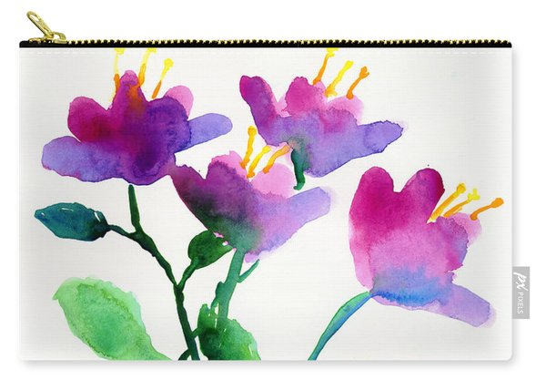 Color Flowers Carry-all Pouch