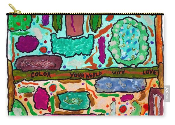 Color Your World With Love Carry-all Pouch