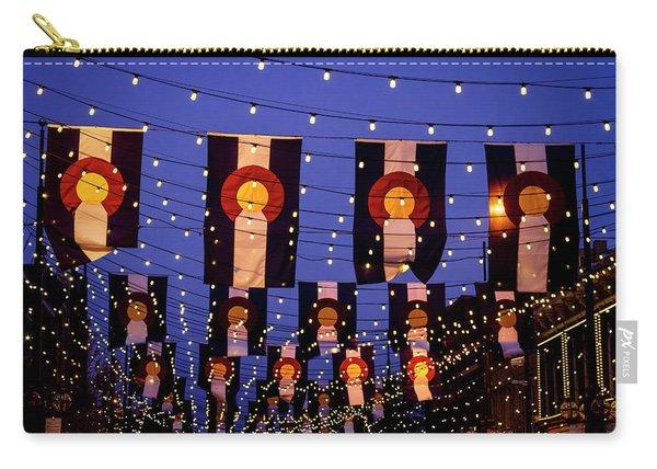 Colorado Flags On Larimer Square Denver Carry-all Pouch
