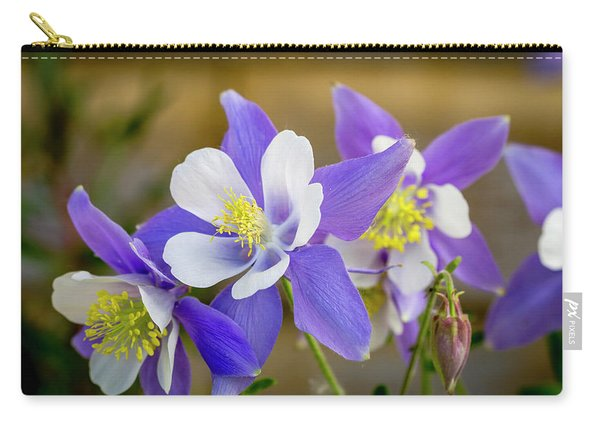Colorado Wildflower Blue Columbines Carry-all Pouch