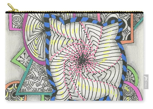 Colored Frames Carry-all Pouch