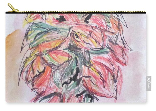 Colored Pencil Flowers Carry-all Pouch