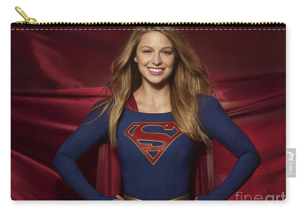 Colored Pencil Study Of Supergirl - Melissa Benoist Carry-all Pouch