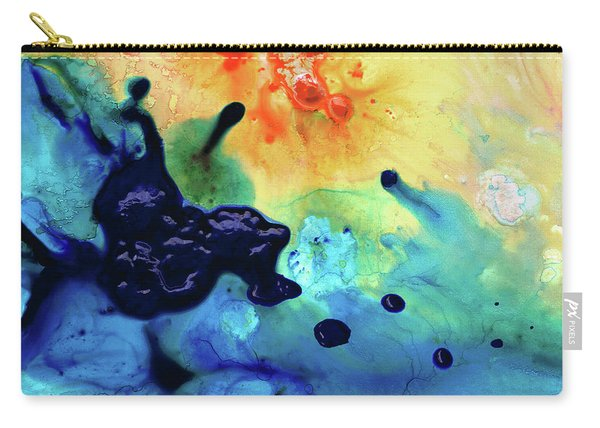 Colorful Abstract Art - Blue Waters - Sharon Cummings Carry-all Pouch