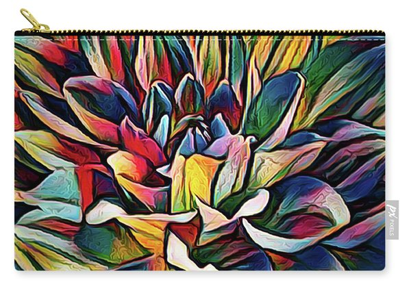 Colorful Abstract Dahlia Carry-all Pouch