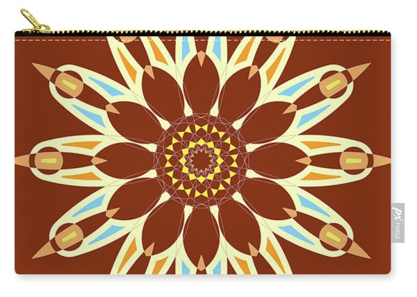 Colorful Abstract Star On Brown Background Carry-all Pouch
