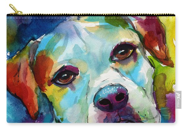 Colorful American Bulldog Dog Carry-all Pouch